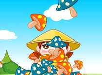 采蘑菇的小姑娘